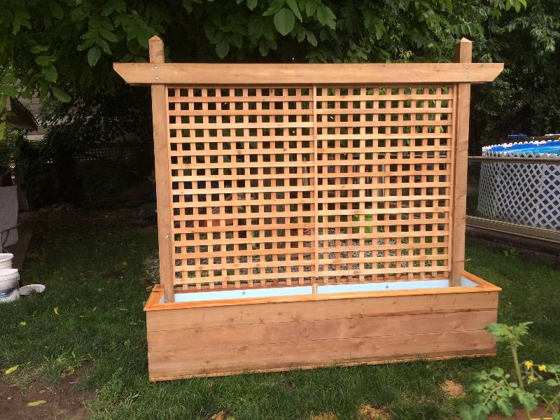 Planter with trellis - Castanet Clifieds on