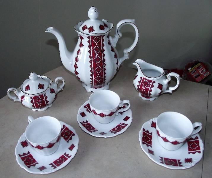 Ukrainian Porcelain Tea Set